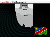 Map of Namibia  powerpoint download