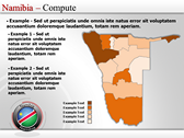 Map of Namibia  power Point templates