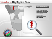Map of Namibia  powerPoint backgrounds