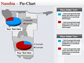 Map of Namibia  background PowerPoint Templates