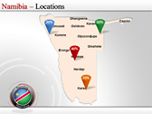 Map of Namibia  power Point Backgrounds