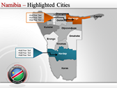 Map of Namibia  full powerpoint download