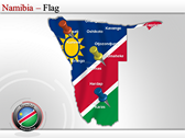 Map of Namibia  power point background templates