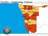 Map of Namibia  power point background graphics