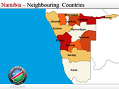 Map of Namibia  powerPoint themes