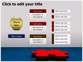 Business Puzzle ppt themes template