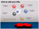 Business Puzzle backgroundPowerPoint Templates