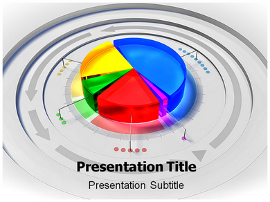 Pie Chart 4 Powerpoint Templates