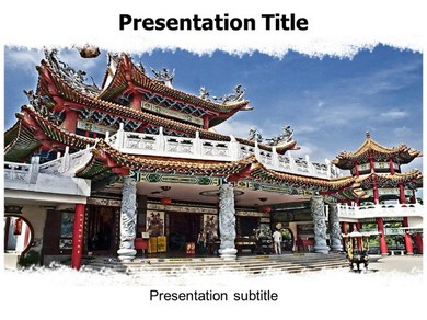 Chinese Architecture Powerpoint Templates
