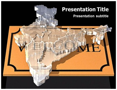 Physical Features of India Powerpoint Templates