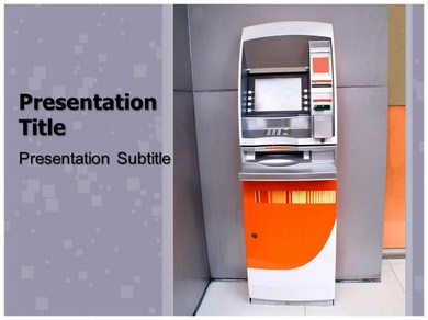 ATM Machine Business Powerpoint Templates