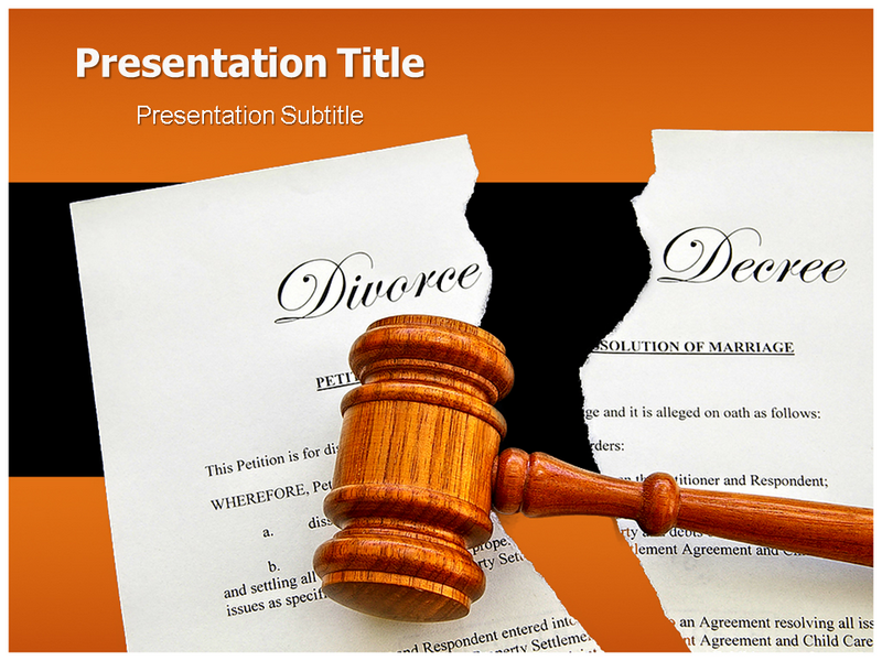 Judgment of Divorce Powerpoint Templates