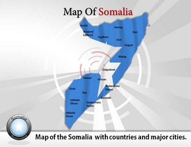 Map of Somalia  PowerPoint Templates