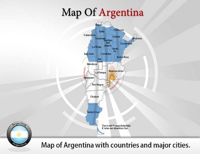 Map of Argentina  PowerPoint Templates