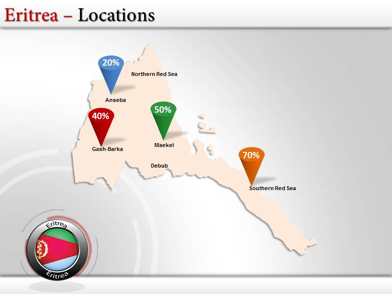 Map of Eritrea  PowerPoint Templates