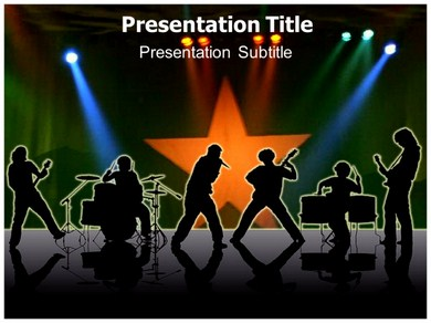 Musician Notes Powerpoint Templates