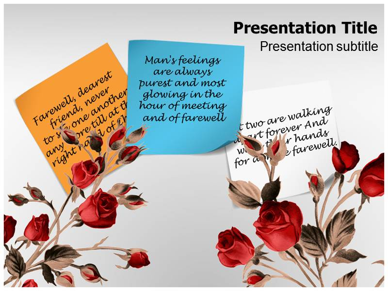 Farewell Powerpoint Templates