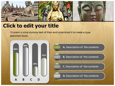 Buddhism Culture Powerpoint Templates