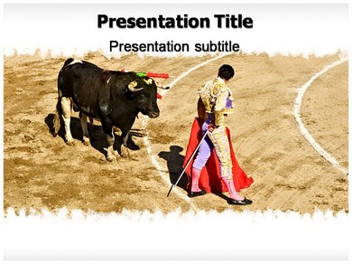 Bull Fight Game Powerpoint Templates