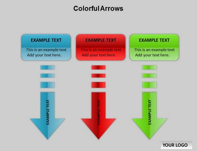 Colorful Arrows Chart Powerpoint Templates