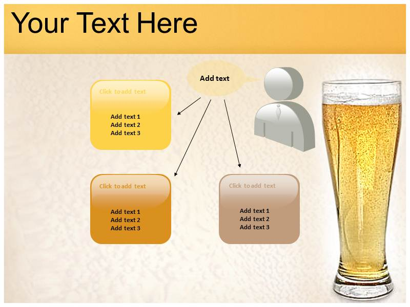 beer brands powerpoint background animated theme