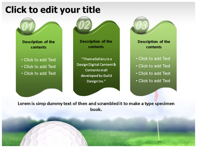 Golf Ball Powerpoint Template Powerpoint Theme Powerpoint Backgrounds
