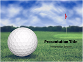 Golf Ball powerPoint template