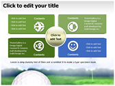 Golf Ball power point background templates