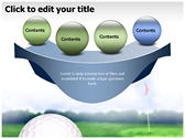 Golf Ball powerpoint theme templates