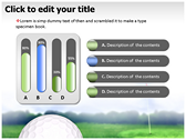 Golf Ball powerpoint theme professional