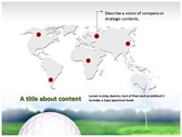 Golf Ball ppt backgrounds