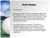 Golf Ball powerpoint template download