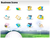 Golf Ball powerpoint slide design