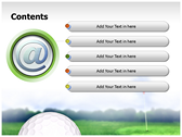 Golf Ball ppt templates