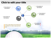 Golf Ball background PowerPoint Templates