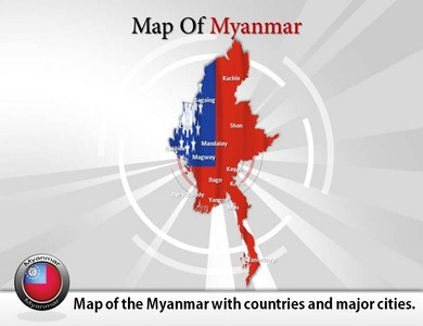 Map-of-Myanmar  PowerPoint Templates