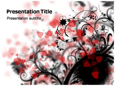 Heart Abstract Powerpoint Templates