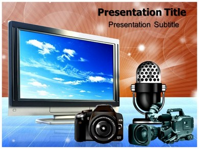 free electronic media (ppt) powerpoint templates | powerpoint, Modern powerpoint