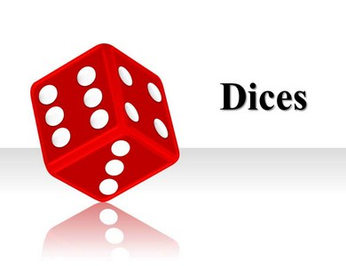 Dice Charts Powerpoint Templates