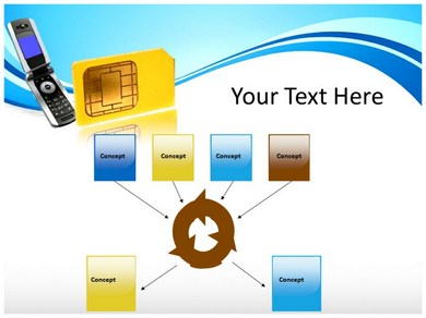 SIM Card Reader Powerpoint Templates