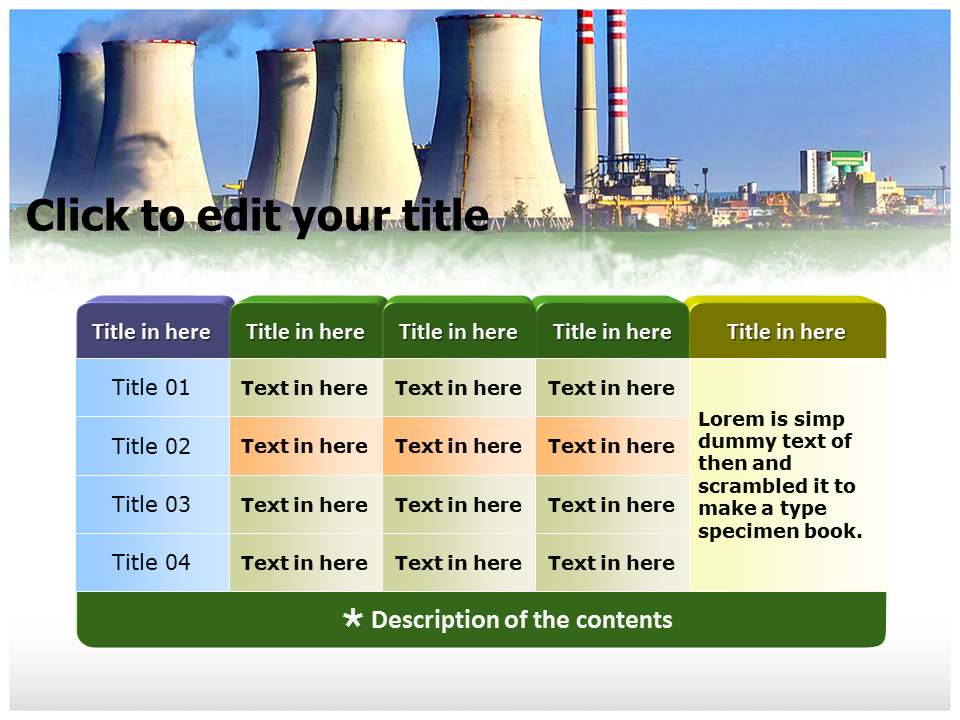 industrial pollution powerpoint templates