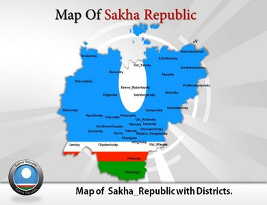 Sakha Republic Maps Powerpoint Templates