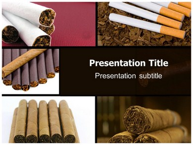 Cigaret Powerpoint Templates