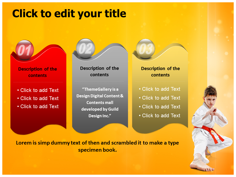 Karate Powerpoint Templates