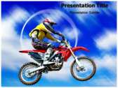 Dirt bikes Powerpoint Templates