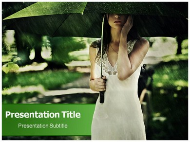 Summer rain Powerpoint Templates