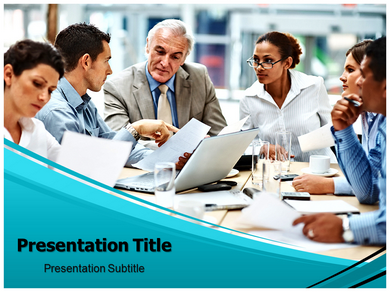 Team Discussion Powerpoint Templates