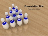 Bowling Games powerPoint template