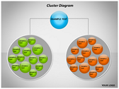 Cluster Diagram themes for power point