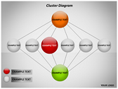 Cluster Diagram backgroundPowerPoint Templates